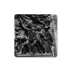 Vintage France Paris triumphal arch marseillaise rude Large Sticker Magnet (Square)