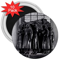 Vintage France Paris  Invalides marshal foch tomb 1970 10 Pack Large Magnet (Round)