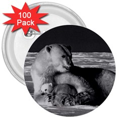 Vintage Usa Alaska Mother Polar Bear 1970 100 Pack Large Button (round)