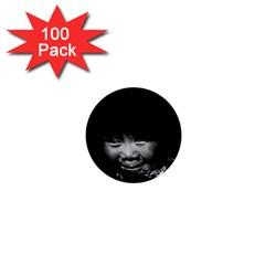 Vintage USA Alaska eskimo child 1970 100 Pack Mini Button (Round)