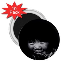 Vintage Usa Alaska Eskimo Child 1970 10 Pack Regular Magnet (round)