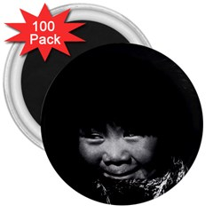 Vintage Usa Alaska Eskimo Child 1970 100 Pack Large Magnet (round)