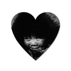Vintage Usa Alaska Eskimo Child 1970 Large Sticker Magnet (heart)