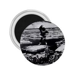 Vintage Alaska eskimo blanket tossing 1970 Regular Magnet (Round)