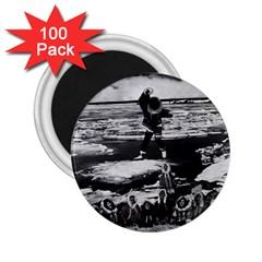 Vintage Alaska Eskimo Blanket Tossing 1970 100 Pack Regular Magnet (round)