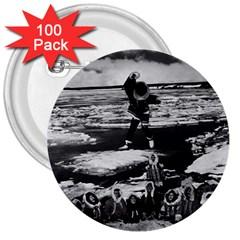 Vintage Alaska eskimo blanket tossing 1970 100 Pack Large Button (Round)