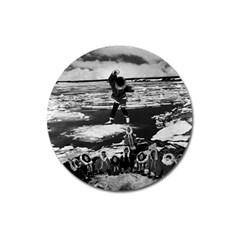 Vintage Alaska eskimo blanket tossing 1970 Large Sticker Magnet (Round)