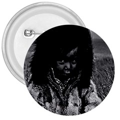 Vintage USA Alaska eskimo boy 1970 Large Button (Round)