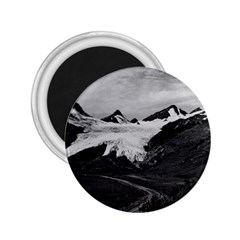 Vintage Usa Alaska Worthington Glacier In Summer 1970 Regular Magnet (round)