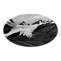 Vintage Usa Alaska Worthington Glacier In Summer 1970 Large Sticker Magnet (oval)