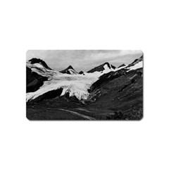 Vintage Usa Alaska Worthington Glacier In Summer 1970 Name Card Sticker Magnet