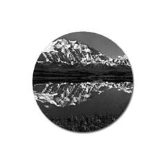 Vintage Usa  Alaska Magnificent Mt Mckinley 1970 Large Sticker Magnet (round)