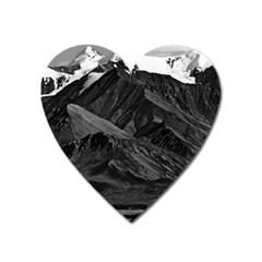 Vintage USA  Alaska Mt Mckinley national park 1970 Large Sticker Magnet (Heart)