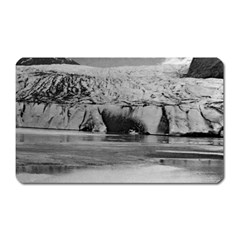 Vintage USA Alaska Mendenhall glacier Juneau 1970 Large Sticker Magnet (Rectangle)