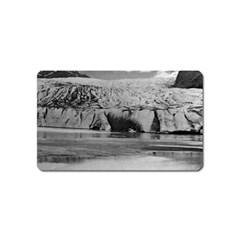 Vintage USA Alaska Mendenhall glacier Juneau 1970 Name Card Sticker Magnet