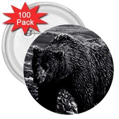 Vintage USA Alaska brown bear 1970 100 Pack Large Button (Round)