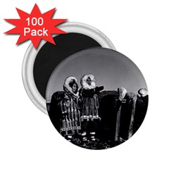 Vintage Usa Fur Clad Eskimos Of Arctic Alaska Bu Sod Igloo 100 Pack Regular Magnet (round)