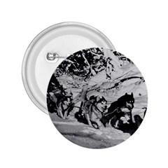 Vintage Usa Alaska Dog Sled Racing 1970 Regular Button (round)