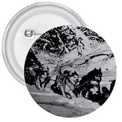 Vintage USA Alaska dog sled racing 1970 Large Button (Round)