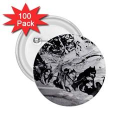 Vintage USA Alaska dog sled racing 1970 100 Pack Regular Button (Round)