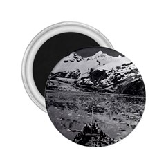 Vintage USA Alaska glacier bay national monument 1970 Regular Magnet (Round)