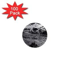 Vintage USA Alaska glacier bay national monument 1970 100 Pack Mini Magnet (Round)