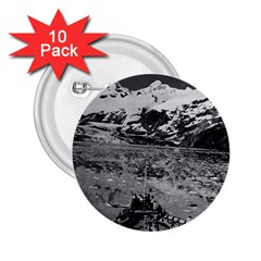 Vintage USA Alaska glacier bay national monument 1970 10 Pack Regular Button (Round)