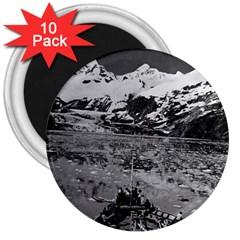 Vintage Usa Alaska Glacier Bay National Monument 1970 10 Pack Large Magnet (round)