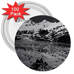 Vintage USA Alaska glacier bay national monument 1970 100 Pack Large Button (Round)
