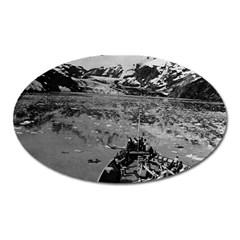 Vintage USA Alaska glacier bay national monument 1970 Large Sticker Magnet (Oval)