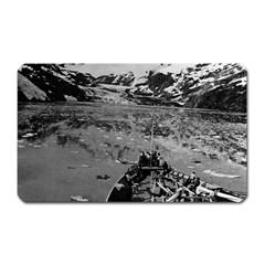 Vintage USA Alaska glacier bay national monument 1970 Large Sticker Magnet (Rectangle)