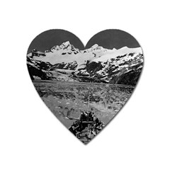 Vintage USA Alaska glacier bay national monument 1970 Large Sticker Magnet (Heart)
