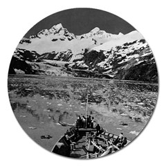Vintage USA Alaska glacier bay national monument 1970 Extra Large Sticker Magnet (Round)