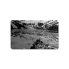 Vintage USA Alaska glacier bay national monument 1970 Name Card Sticker Magnet