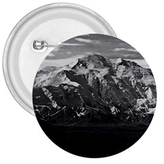 Vintage USA Alaska Beautiful Mt Mckinley 1970 Large Button (Round)