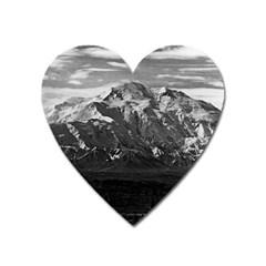 Vintage USA Alaska Beautiful Mt Mckinley 1970 Large Sticker Magnet (Heart)
