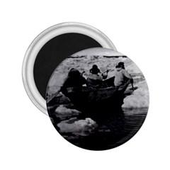 Vintage USA Alaska Eskimo hunters 1970 Regular Magnet (Round)