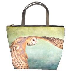 Barn Owl Bucket Handbag