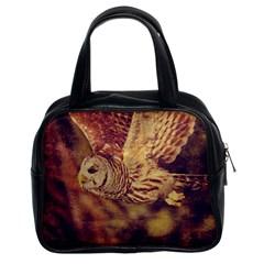 Barred Owl Twin-sided Satchel Handbag