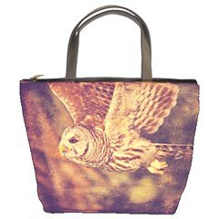 Barred Owl Bucket Handbag