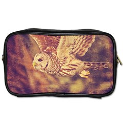 Barred Owl Twin-sided Personal Care Bag