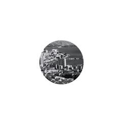Vintage Principality Of Monaco  The Port Of Monte Carlo Mini Button (round)