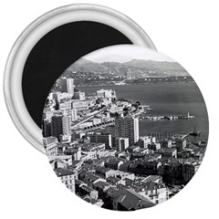 Vintage Principality Of Monaco  The Port Of Monte Carlo Large Magnet (round)
