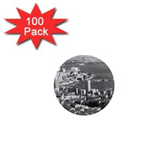 Vintage Principality of Monaco  the port of Monte Carlo 100 Pack Mini Magnet (Round)