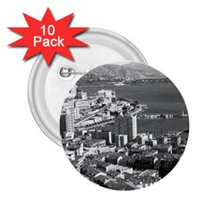 Vintage Principality of Monaco  the port of Monte Carlo 10 Pack Regular Button (Round)