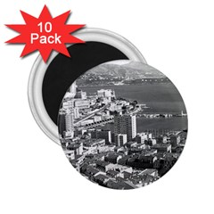 Vintage Principality Of Monaco  The Port Of Monte Carlo 10 Pack Regular Magnet (round)