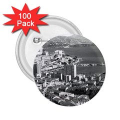 Vintage Principality of Monaco  the port of Monte Carlo 100 Pack Regular Button (Round)