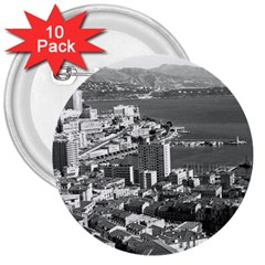 Vintage Principality of Monaco  the port of Monte Carlo 10 Pack Large Button (Round)