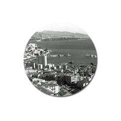 Vintage Principality Of Monaco  The Port Of Monte Carlo Large Sticker Magnet (round)
