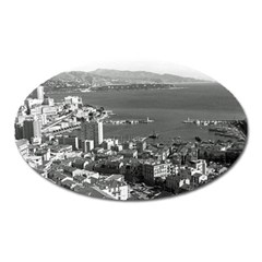 Vintage Principality of Monaco  the port of Monte Carlo Large Sticker Magnet (Oval)